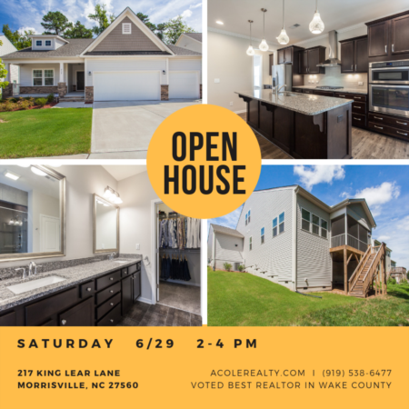 *OPEN HOUSE* Saturday 6/29 in Morrisville, NC!