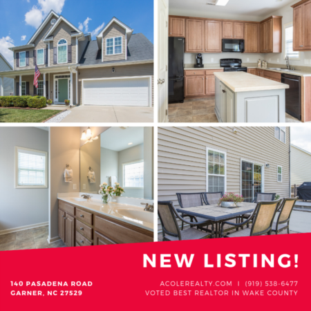 New LISTING in GARNER, NC 27529!