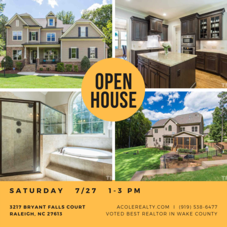 *OPEN HOUSE* in Raleigh- SATURDAY 7/27 from 1-3!