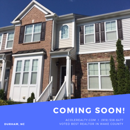 *Coming soon* LAKE VIEW townhome in Durham!