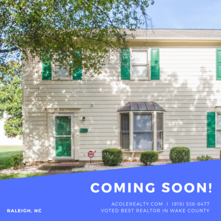 *COMING SOON* END UNIT TH conveniently located off Creedmoor Rd!