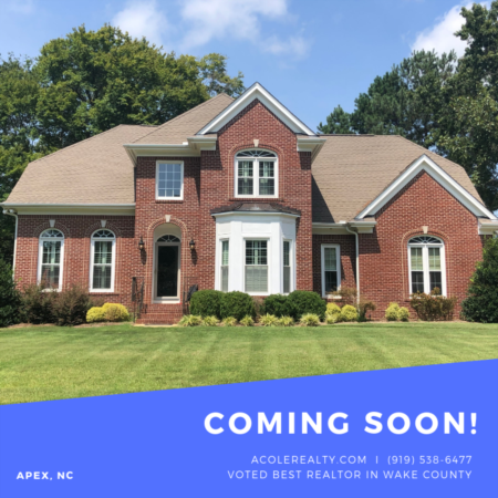*COMING SOON* Beautiful traditional style home in Apex, NC!