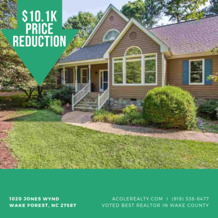 *PRICE REDUCTION* 1020 Jones Wynd, Wake Forest is now $339,900!!! Make us an offer!
