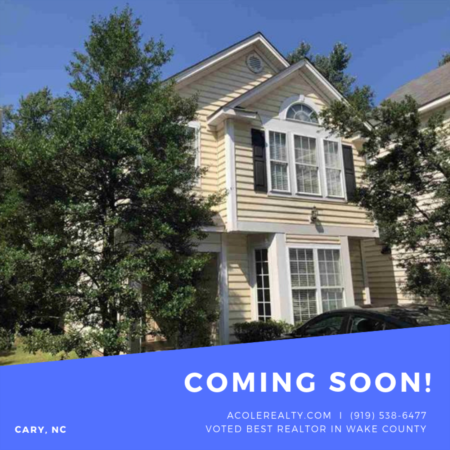 *COMING SOON* Low maintenance living in amazing Cary location!!