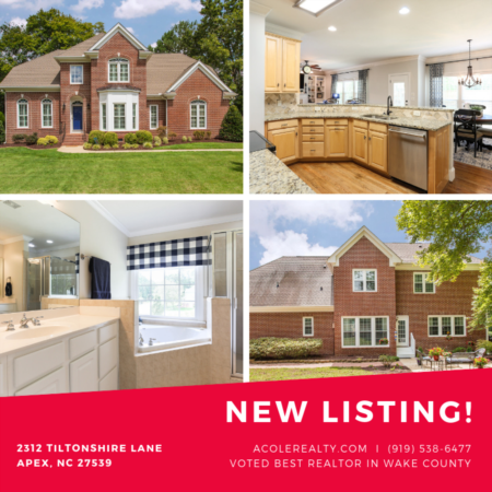 *NEW LISTING* BEAUTIFUL 4-sided brick home in Apex!