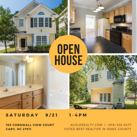 Open House: Saturday, September 21, 2019 from 1:00 PM - 4:00 PM