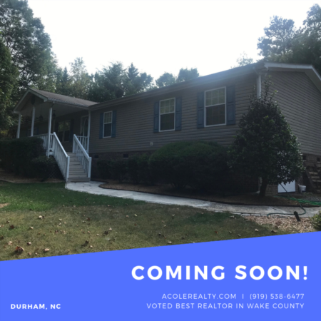 *COMING SOON* Home in Durham with main flr living!