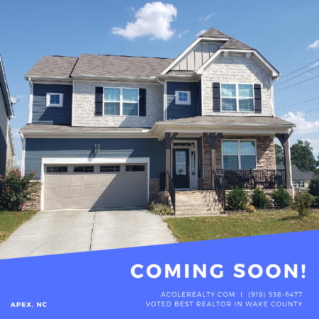 *COMING SOON* Beautiful home located in growing town of Apex!
