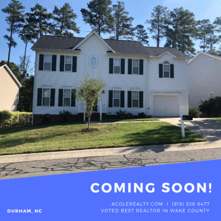 *COMING SOON* beautifully maintained 4 bedroom home in flourishing City of Durham.