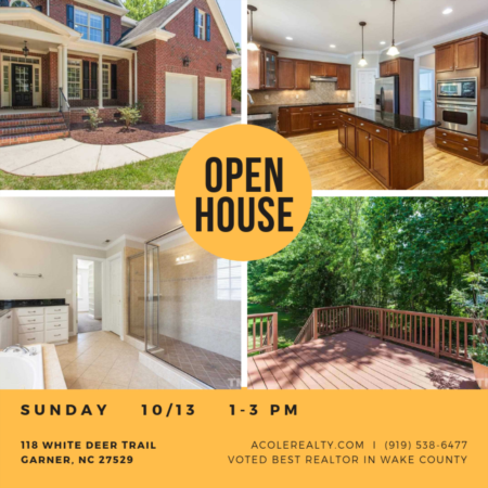 OPEN HOUSE: Sunday, Oct 13 from 1-3pm