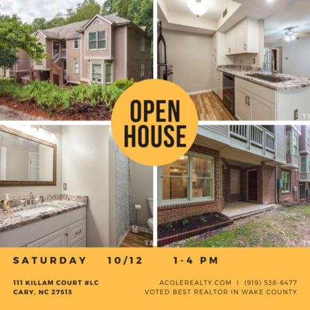 OPEN HOUSE: Saturday, Oct 12 from 1-4pm