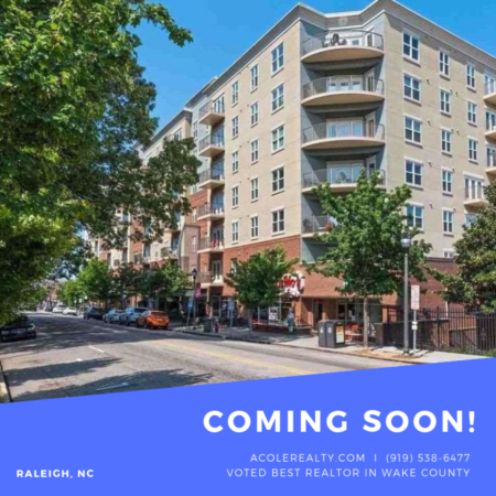 *COMING SOON* Downtown Raleigh Living!
