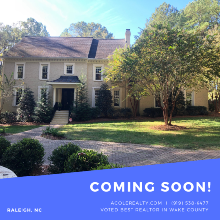 *COMING SOON* Beautiful custom home in highly desired N. Raleigh Community of Trego