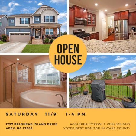 Open House: Saturday, November 9, 2019 from 1:00 PM - 4:00 PM