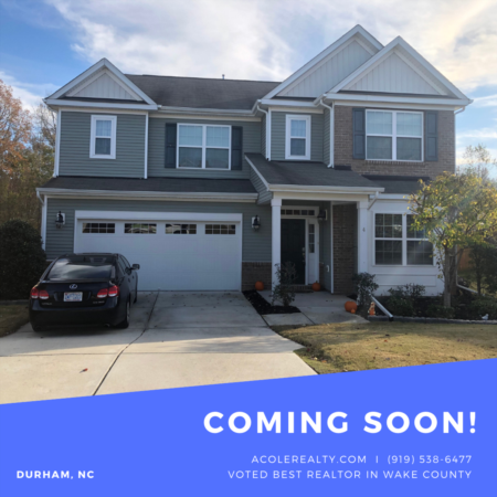 *COMING SOON* Durham home in Ravenstone Subdivision!