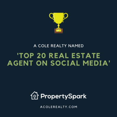 @AColeRealty team has been named a 'Top 20 Raleigh Real Estate Agent on Social Media' for 2019 by PropertySpark!