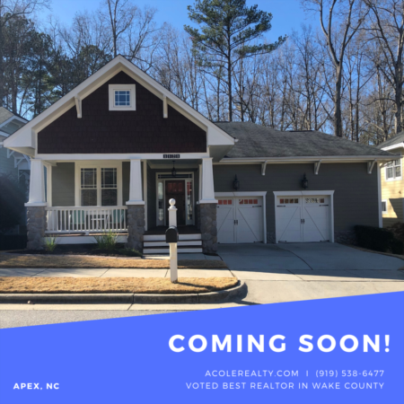 *COMING SOON* New home in Apex, NC!