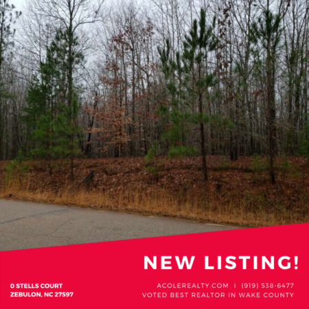 *NEW LISTING* End lot in Zebulon, NC!