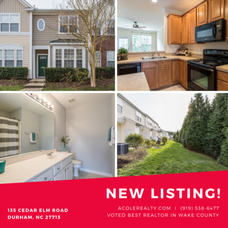 *NEW LISTING* Beautiful Townhome in Hope Valley Farms.