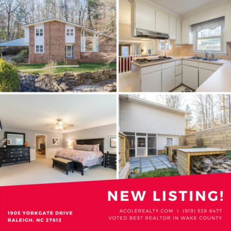 *NEW LISTING* Nature lovers delight w/ natural creek in Raleigh Home!