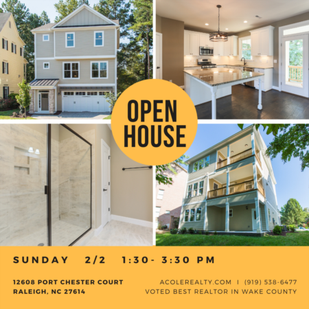 OPEN HOUSE: Sunday, February 2 from 1:30pm to 3:30pm!