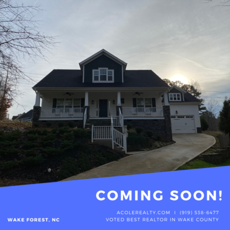 *COMING SOON* Beautiful home in Wake Forest!