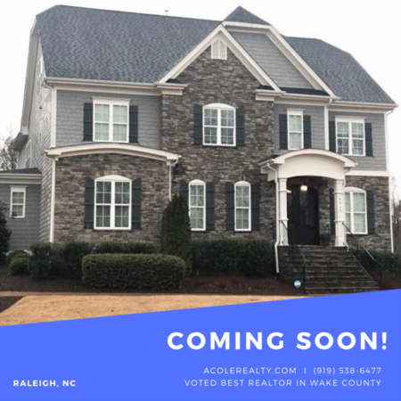 *COMING SOON* Beautiful Stone Accented Custom Home in Great Raleigh Location!