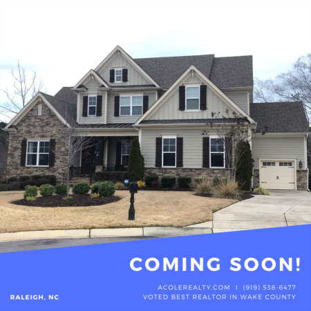 *COMING SOON* Great Location!! Wooded views of Umstead Park!