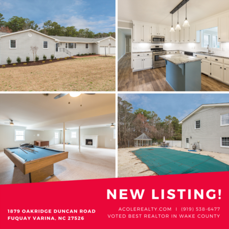 *NEW LISTING* New Ranch home with pool & basement!