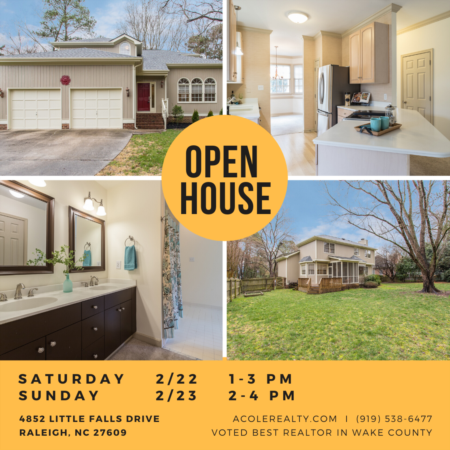 *OPEN HOUSE* Saturday 2/22 & Sunday 2/23 near North Hills!