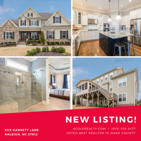 *NEW LISTING* Great Location!! Wooded views of Umstead Park!
