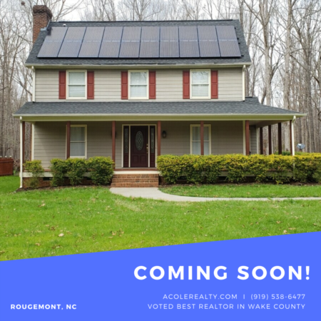 *COMING SOON* New listing in Rougemont, NC!