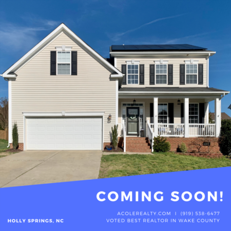 *COMING SOON* Home in Holly Springs, NC!