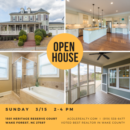 Open House: Sunday, March 15, 2020 from 2:00 PM - 4:00 PM