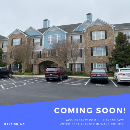 *COMING SOON* 1st Floor End Unit Condo in Prime Raleigh location!