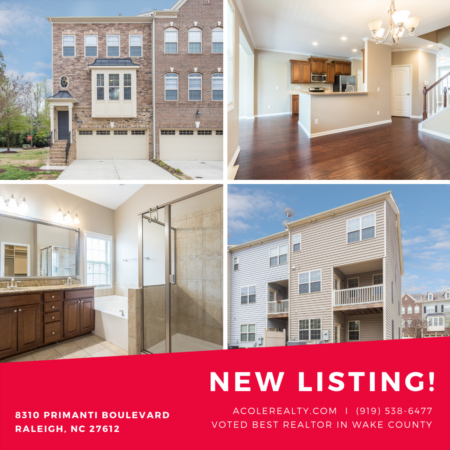 *NEW LISTING* End Unit Townhome located in a great Raleigh location!