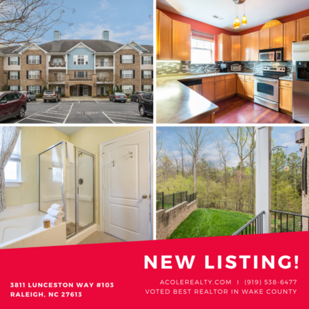*NEW LISTING* 1st Floor End Unit Condo in Prime Raleigh location!
