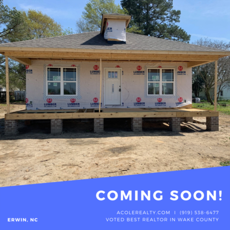 *COMING SOON* New Construction Ranch Home in Erwin, NC!
