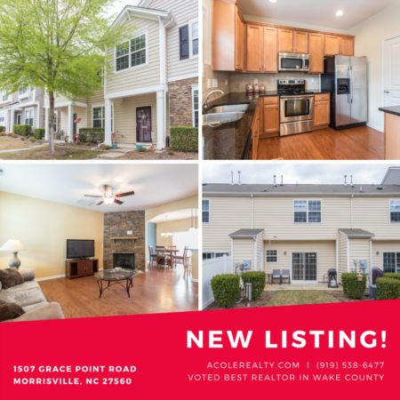 *NEW LISTING* Townhouse in Morrisville!