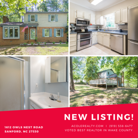 *NEW LISTING* Convenient to Raleigh and Fayetteville!