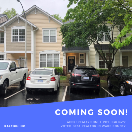 *COMING SOON* Beautiful 3 bedroom townhome just minutes from downtown Raleigh