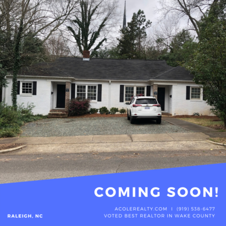 *COMING SOON* Duplex near Cameron Village!