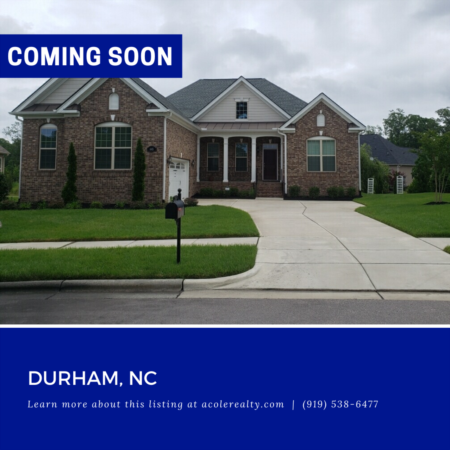 *COMING SOON* Open Concept Ranch Home in the highly desired area of Southpoint in Durham.