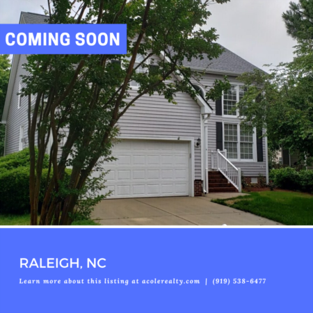 *COMING SOON* Prime Location in North Raleigh.