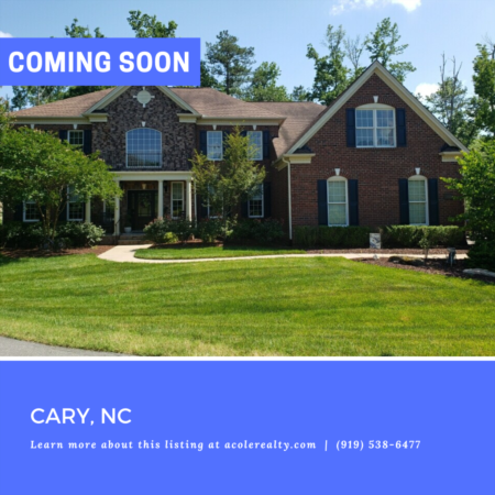 *COMING SOON* Exquisite All Brick Home on a wooded cul-de-sac lot in Green Level Crossing!