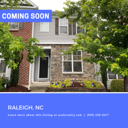 *COMING SOON* Amazing Townhome in a great location close to 540, shopping, and restaurants!
