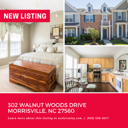 *NEW LISTING* Spectacular Townhome in Morrisville!