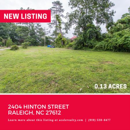 Vacant Lot off Creedmoor! 2404 Hinton Street, Raleigh: 0.13 acres