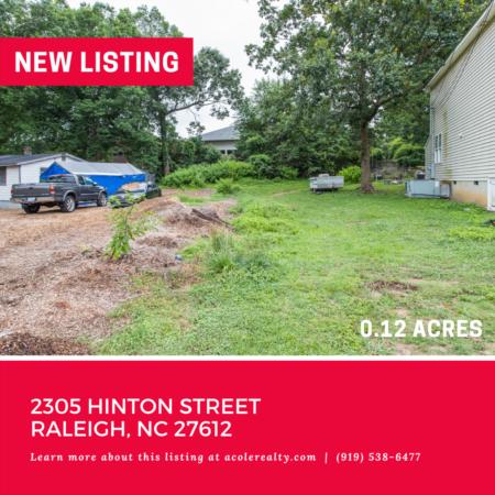 Vacant Lot off Creedmoor! 2305 Hinton Street, Raleigh: 0.12 acres