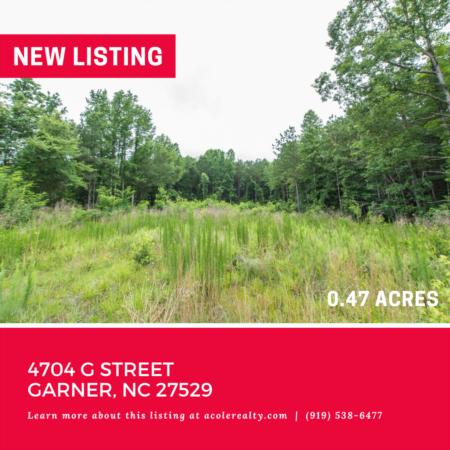 Vacant Lot in Garner! 4704 G Street, Garner: 0.47 acres